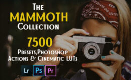 The Mammoth Collection: 7500 Presets Photoshop Actions and Cinematic LUTs